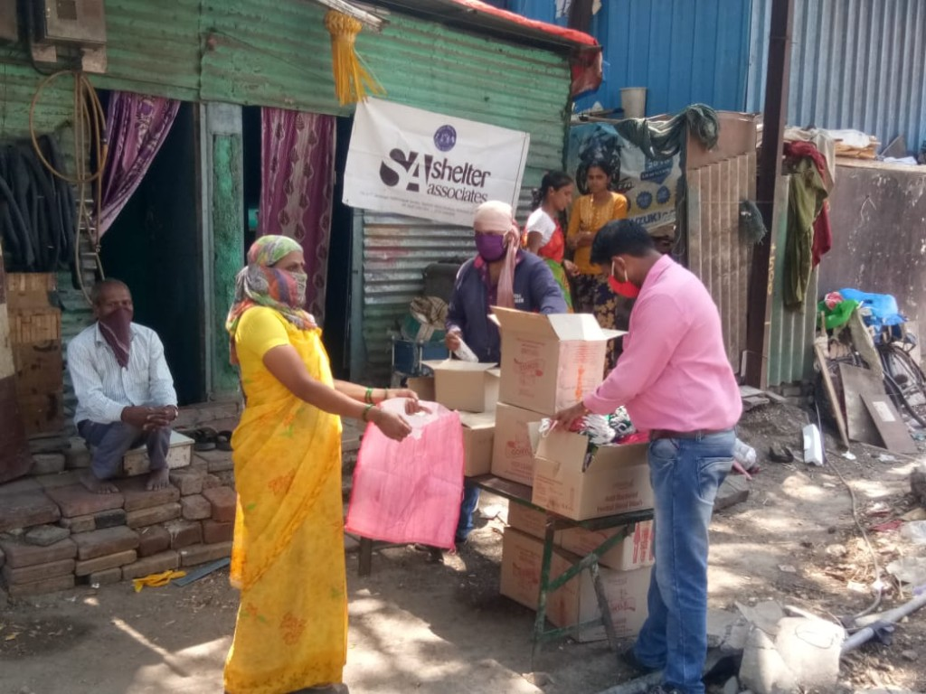 Distribution of dry ration to the needy families